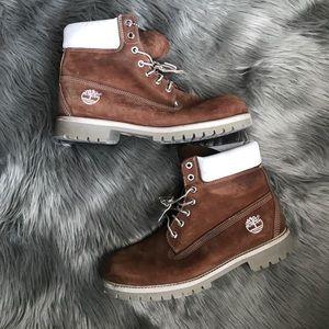 Men's Rich brown Timberland boots ✨